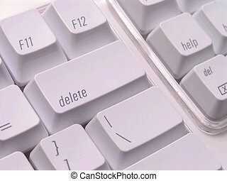 Delete key on Keyboard - Delete key on white Keyboard close...