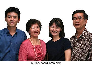 Feliz, Asiático, família