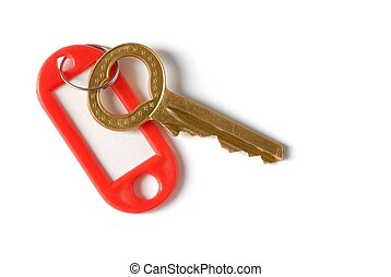 Key - Isolated heart-shaped key