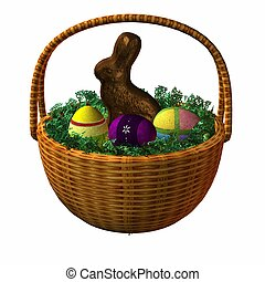 Easter Basket - 3D Render