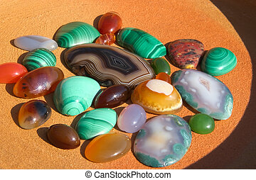 Colourful semiprecious stones background - Colourful...