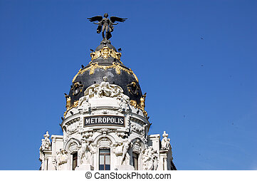 Metropolis, Madrid - Building in the center of Madrid, Spain