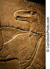 Egyptian Flacon Carving on Solid Rock - God Horus