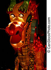 Dragon Head - dragon head during chinese lantern festival...