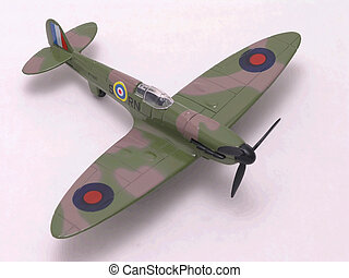 Spitfire Fighter airplane - British Supermarine Spitfire...