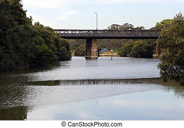 Parramatta River and bridge at Parramatta