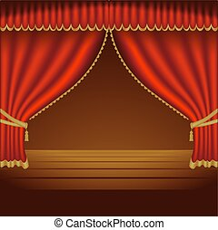 Theatre Courtains 01 - High detailed illustration.