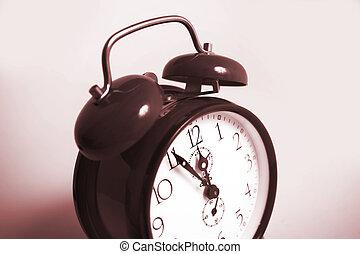 sephia clock - old fashion clock sephia colored