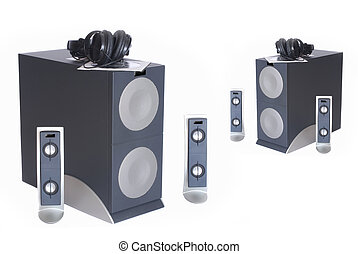 Subwoofer speaker system. - Hi end computer Subwoofer...