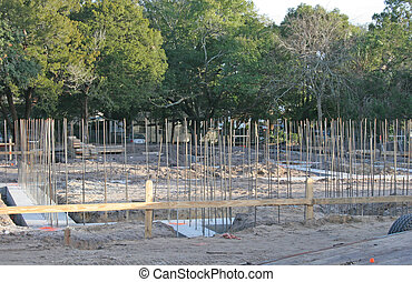 Footings - Poured footings with rebar at a new construction...