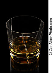 Whiskey glass - Rare single malt whiskey in a elegant glass...