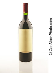 Wine bottle - Red wine bottle isolated