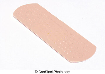 bandaid - close up details of fabric bandaid isolated on...