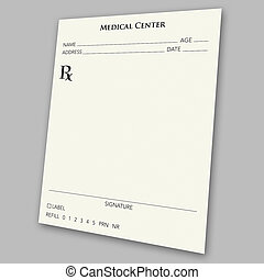 prescription pad - An empty prescription pad stationery -...