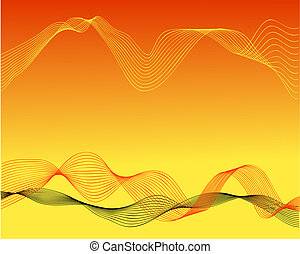 Three waves - Abstract background of three wave forms