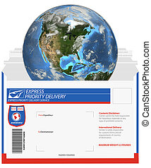 Express Delivery-Earth - It\'s a small world, when you ship...