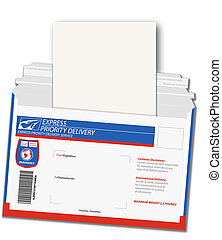 Express Delivery Letter - Room for your copy on an important...