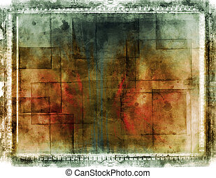 Grunge border and background - Computer designed grunge...