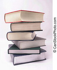 Stack of Books 2 - Stack of hard cover literary classic...