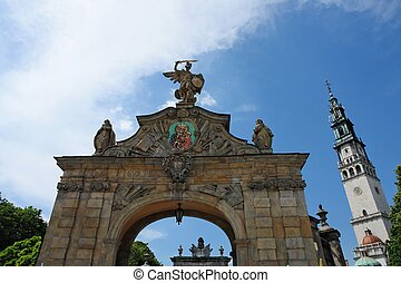 Abbey Gates - Chestochova Abbey in Poland is famous for its...