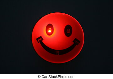 red ball - a smiling red ball