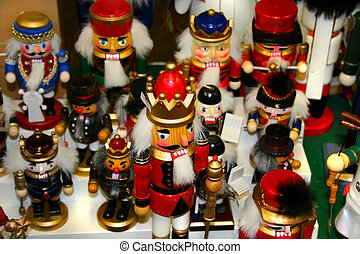 handi crafts - Small wooden christmas toy parade