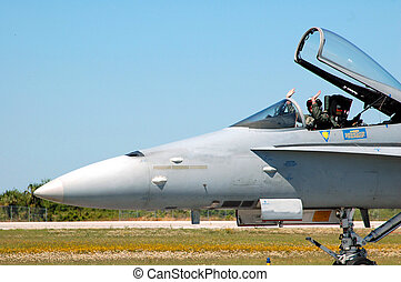 Air show - Photographed jet fighter at air show in Florida.