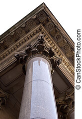 Courthouse Pillar Isolated on a White Background