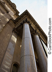 Courthouse Pillar - Courthouse Building with Old Fashion...