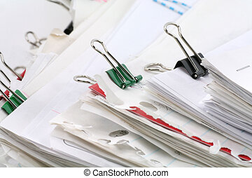 paperwork - filing document, concept of paperwork