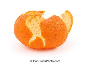 orange husk with white background