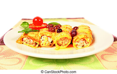 Chicken burritos - Stuffed chicken burritos or canelonis