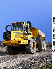 Dump Truck - portrait of dump truck on path