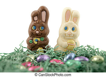 Bunny Love - Milk chocolate and white chocolate Easter...