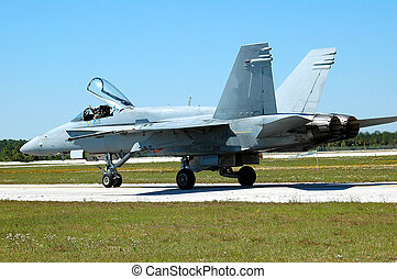 Air show - Photographed fighter jet at air show in Florida.