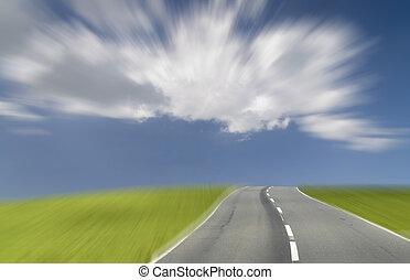 The future under a blue sky