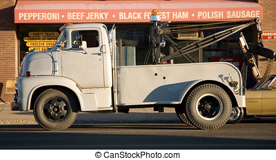 Vintage Tow Truck - Vintage Mercury 600 tow truck.