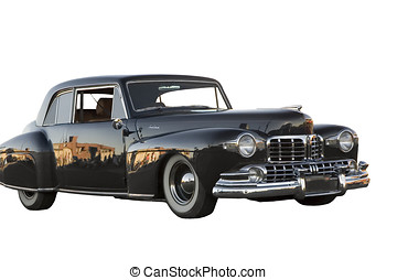 Lincoln Continental - 1948 Lincoln Continental on a isolated...