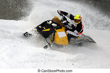leaving a spray - taken at kirkland lake snowcross