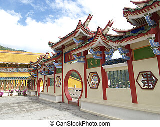 Chinese temple in Malaysia - The Kek Lok Si temple in the...