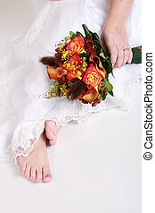 bride toes - bride showing off her toes and her beautiful...