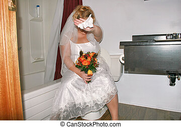 going pee - A bride caught in the bathroom