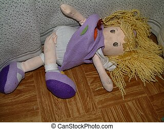 Abandoned doll - Doll on the floor