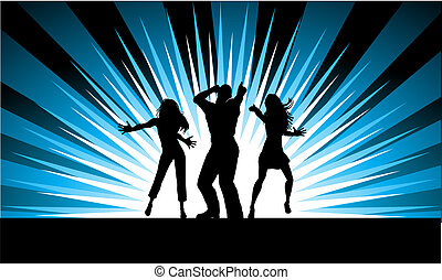 Funky dancers - Silhouettes of people dancing