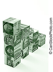 Money stairs concept - Money stairs-concept of financial...