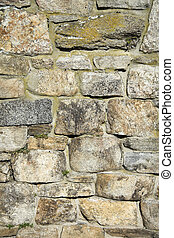 Old stone wall - Detailed view of an old stone wall...