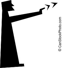 serious consequences - simple silhouette figure of a man...