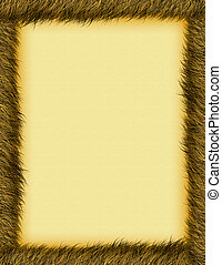 burnt grass border - a textured burnt brown border and...