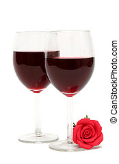 Red wine - Glass of rd wine on a white background