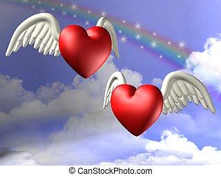 Valentine\\\'s hearts - 3D Render